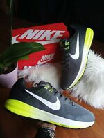 SIZE 15 MEN'S NIKE AIR ZOOM STRUCTURE 21 GREEN GRAY RUNNING SHOES SPORT CASUAL