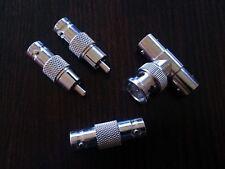 Pack conectores BNC Vídeo / CCTV: T macho-2 hembras / hembra-hembra / BNC-RCA
