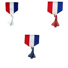 BOY CUB SCOUT SPACE SHIP DERBY MEDAL RIBBON 3 PIN SET LOT RED WHITE AND BLUE NEW