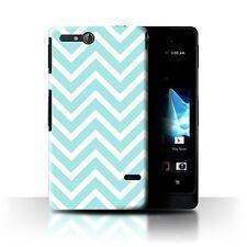 STUFF4 Case/Cover for Sony Xperia Go/ST27i/Winter Fashion/Blue Zig Zag