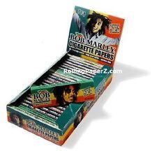 Full Box 25 Packs Bob Marley 1 1/4 Cigarette Rolling Papers - 50 leaves per pack