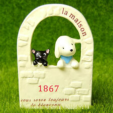 Cat Dog Door Fairy Garden Terrarium Dollhouse Decor Figurine Cartoon Comic Toy