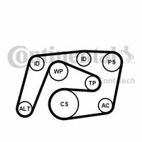 Keilrippenriemensatz Mercedes-Benz - Contitech 6PK2260K1