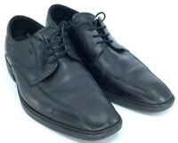 Ecco Oxford Men's EUR 45 US 11-11.5 Black Leather Lace Up Bicycle Toe Dress Shoe