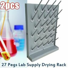 Lab Science Supply Drying Rack 27 Pegs Cleaning Equipment Frames Hangers Pp New