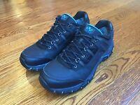 Abeo Aero Mens Hylan Trail Hiking Shoes Black / Blue Vibram Soles Size 10 M