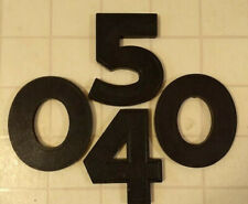 """8"""" Wagner Slotted Movie Theatre Marquee Sign Big Black Letter or Number"""