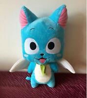 New Anime Fairy Tail Blue Cat Cute Happy Cartoon Doll Plush Soft  Toys Gift 12''