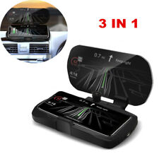 3 IN 1 GPS HUD Qi Wireless Car Charging Charger Mount Holder Phone Holder 10W