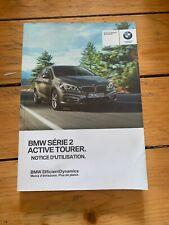 Manuel Notice D Utilisation BMW Série 2 Active Tourer