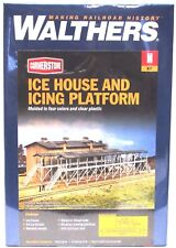 N Scale Walthers Cornerstone 933-3245 Ice House & Icing Platform Building Kit