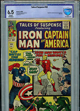 Tales of Suspense  #60 CBCS 6.5 1964 Silver Age Marvel Comics 2nd Hawkeye