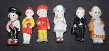 Six! Vintage Miniature Bisque Dolls Japan #1