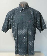 Mens GANT Short Sleeve Button Front Shirt Imperial Poplin Size L Cotton