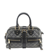 Marc Jacobs Blue Quilted Leather & Ostrich Satchel