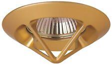 SPOT à encastrer, Fixe, pour Ampoule 12V MR16 culot GU5.3 maxi 50W, finition Or