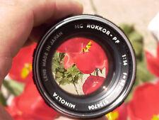 Minolta Rokkor-PF 58mm F:1.4 #5124704 lens  m4/3 nex A7 A7r A7s FE DSLR DSLM