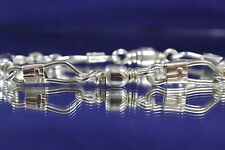 ACTS Sterling Silver Fishers Of Men Bracelet XL Heavy Link with Cross 8.5 inches
