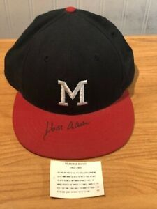 HANK AARON SIGNED MILWAUKEE BRAVES COOPERSTOWN COLLECTION MLB BASEBALL HAT!