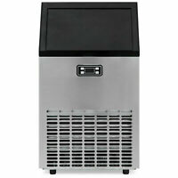 Smad Commercial Ice Maker Machine Stainless Steel 100lbs Built-in Bar Restaurant