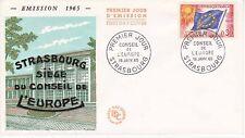Enveloppe 1er jour FDC 1965 - Conseil de l'Europe timbre 0.30