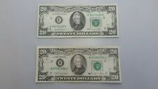1981 $20 Bill BANK OF RICHMOND VA . AND 1990  $20 BILL .BANK OF NY. GOOD SHAPE