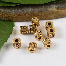 50pcs dark gold-tone curved wire tube spacer beads h2070