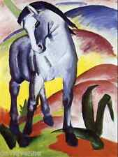 Franz Blue Horse 9x12 inch image on Zweigart Needlepoint Canvas ready to finish