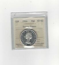 **1964**, ICCS Graded Canadian, 50 Cent, **MS-62 Heavy Cameo**