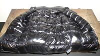 veste TU doudoune noire inversée brillante matelassée chaude femme jacket 478!