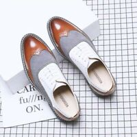 New Mens Oxfords Business Dress Formal Shoes Brogue Lace Up Wing Tip Loafers
