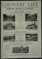 Tittleshall Estate Blenheim House Norfolk Estate Agent Details 1958 Page Advert