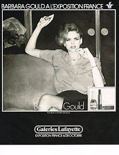 PUBLICITE ADVERTISING 064  1978  BARBARA GOULD  cosmétiques  EXPOSITION FRANCE