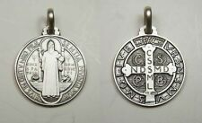 St. Benedict Medal Sterling Silver (925) - 20mm - Italy