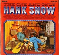 HANK SNOW the one and only CDM 1026 uk rca camden LP PS EX/VG+