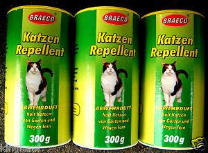 3x 300g Katzenschreck Katzenvertreiber Katzenabwehr Katzen Abwehrduft Duft