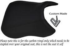 CARBON FIBRE VINYL CUSTOM FITS PEUGEOT XR6 50 FRONT RIDER VINYL SEAT COVER