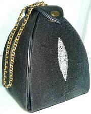 Stingray Black Evening Bag Small Handbag Leather Purse