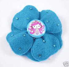 Tarina Tarantino Pink Head Felt Flower Hairclip BLUE