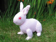 KNITTING INSTRUCTIONS - CUTE BABY BUNNY TOY RABIT  ANIMAL KNITTING PATTERN