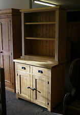 Old Reclaimed Solid Pine Antique Style Full Farmhouse Dresser Made To Any Size