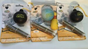 Cat Catnip Toy Lot Toys Cosmic Ourpets Bowling Ball Bowl pin Explosion tube