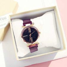 Women Fashion Starry Sky Watches Quartz Watch Magnet Strap Wristwatch Supplies