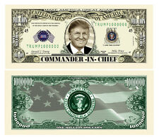 25 Donald Trump President Money Fake Dollar Bills Commander In Chief Million Lot