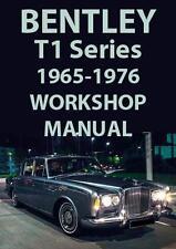 BENTLEY T1 Series WORKSHOP MANUAL 1965-1976
