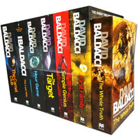 David Baldacci Collection 7 Books Set Hour Game, Last Mile, Camel Club, Target