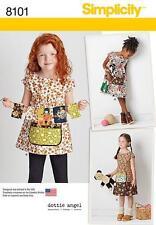Simplicity Sewing Pattern 8101 Childs Dress Tunic Dottie Angel Girls 3 - 8 New