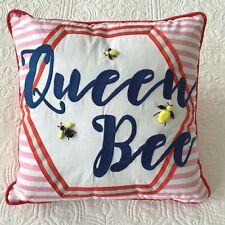 POTTERY BARN Compass Crewel Pillow  16x16 ~ Summer Fun Beach New