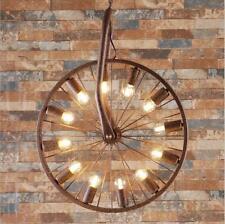 Bicycle Wheels Vintage Industrial Ceiling lamp Chandelier Pendant Lights Edison