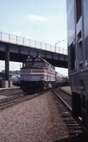 AMTRAK Railroad Locomotive 300 RENSSELAER NY Original 1995 Photo Slide